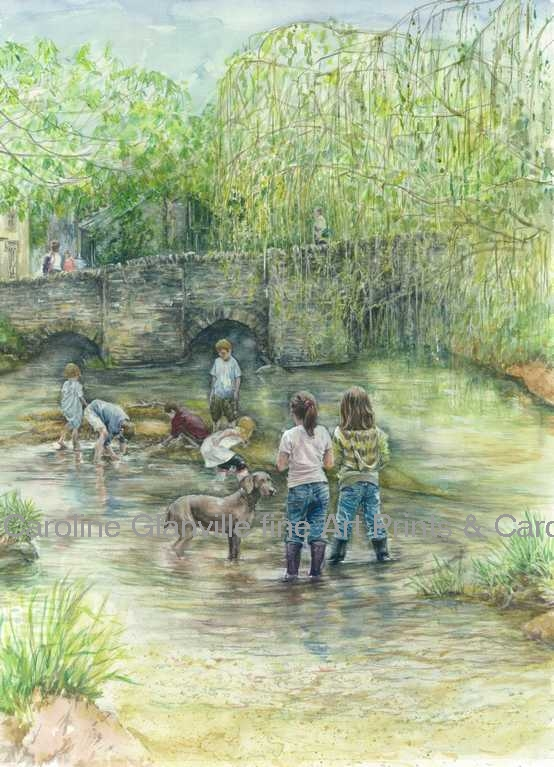 messing about in the river, painting by Caroline Glanville