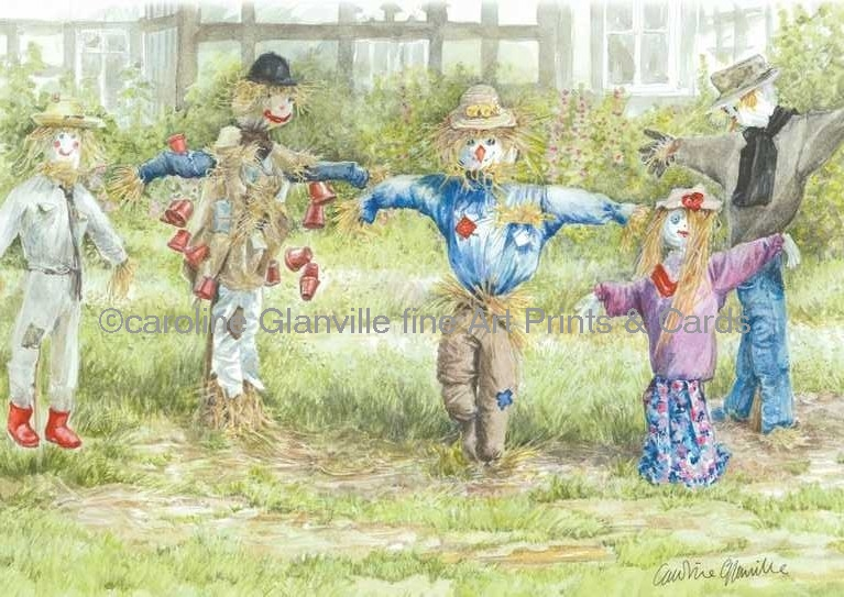 Scarecrow competition painting by Caroline Glanville