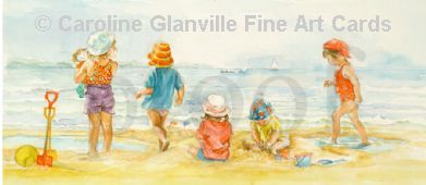 On the Beach, painting by Caroline Glanville