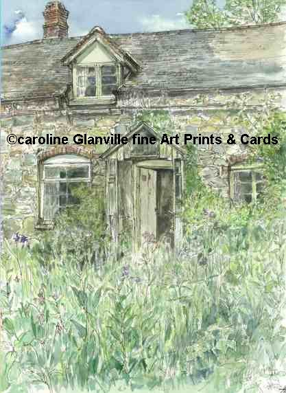 Cottage porch, painting by Caroline Glanville