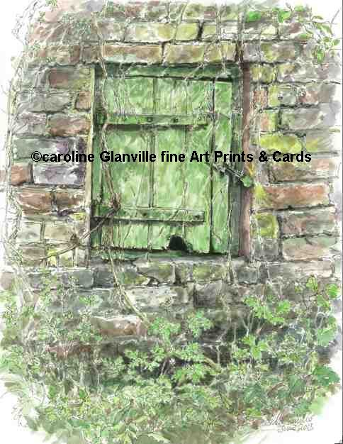 Little door, painting by Caroline Glanville