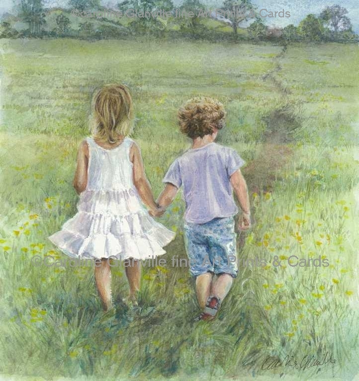 childhood memories painting by Caroline Glanville